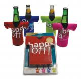 Beer bottle chillers (set of 4) - Design A