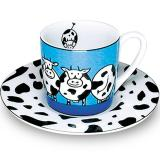 Espresso cup & saucer animal stories cow