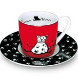 Espresso cup & saucer animal stories cat