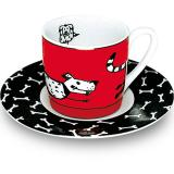 Espresso cup & saucer animal stories dog