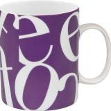 Mug script collage purple